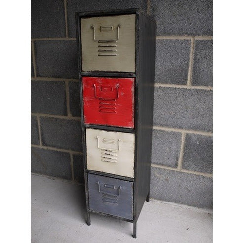 Loft style industrial metal 4 drawer cabinet