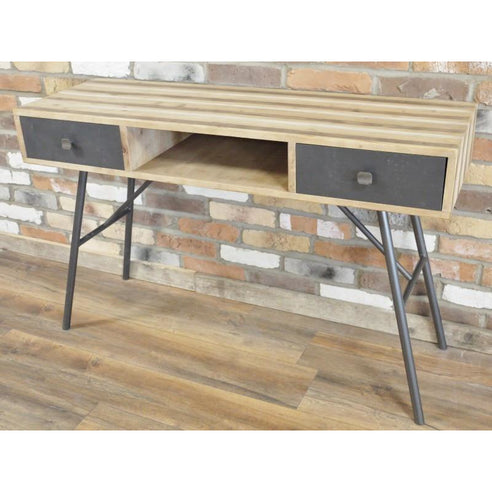 Retro Industrial 50's Wood/Metal Console / Laptop Table (120 x 42 x 76cm)