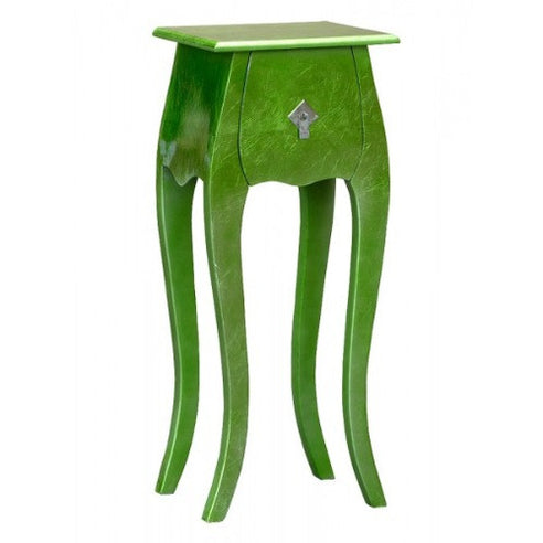 Green lacquered high gloss bedside cabinet