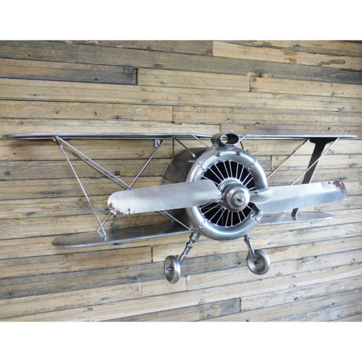 Retro Industrial Aeroplane Large Wall Decoration