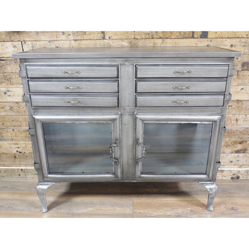 Hoxton Metal and Wood Industrial Sideboard (100 x 33 x 87cm)
