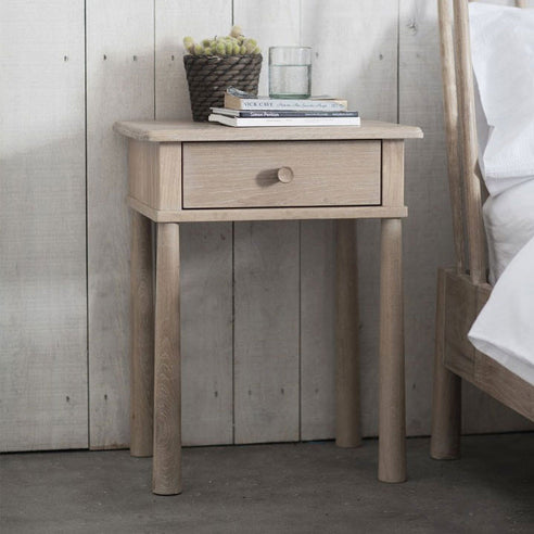 Wycombe Oak Bedside Cabinet with 1 Drawer (50 x 40 x 63.4cm)