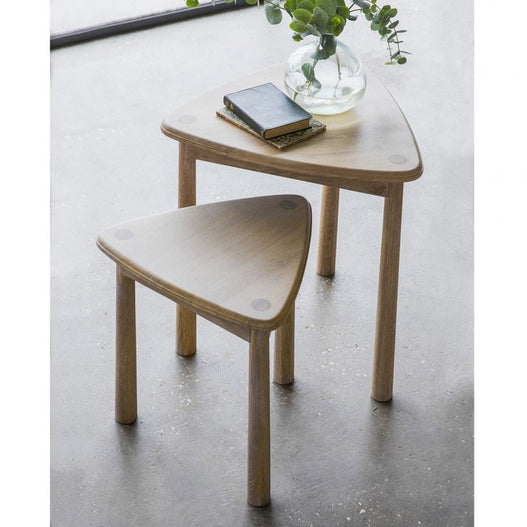 Wycombe Oak Side Tables (Nest of 2 Tables, 50 x 50 x 59cm)