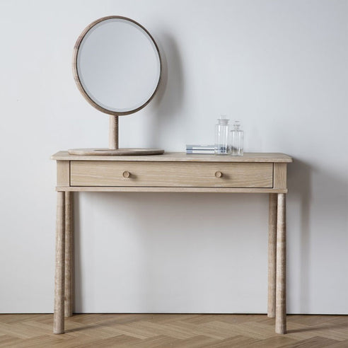 Wycombe Oak Dressing Table with Drawer (110 x 40 x 80cm)