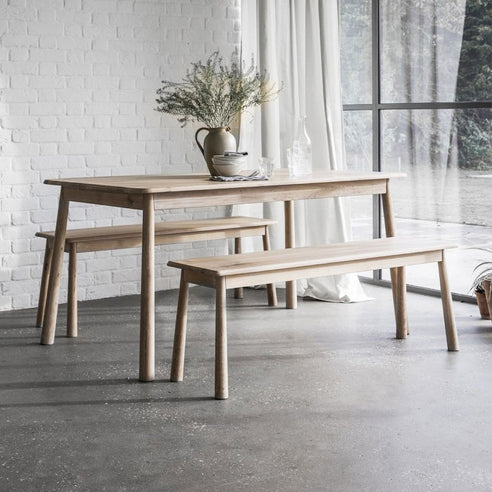 Wycombe Oak Dining Bench (130 x 36 x 46cm)