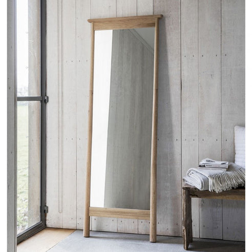 Wycombe Oak Cheval Mirror (Floor Standing Full Length, 64 x 174cm)