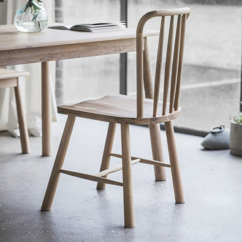 Wycombe Oak Dining Chair in Natural Finish (2 Pack)