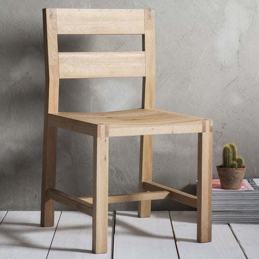 Kielder Nordic-Style Oak Chair (2 Pack)