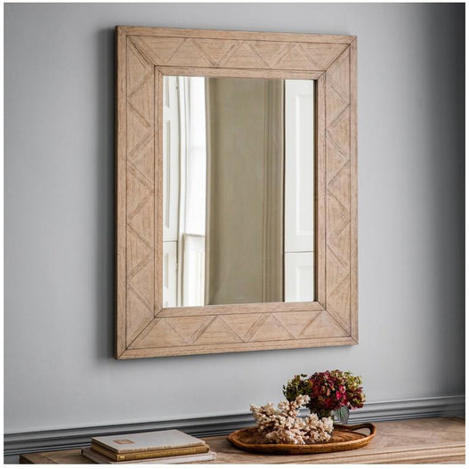 Mustique Mindy Wood Rectangular Wall Mirror (110 x 90cm)