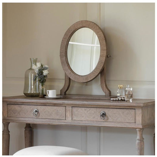 Mustique Mindy Wood Dressing Table Mirror (52.5 x 20 x 53.5cm)
