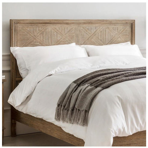 "Mustique Mindy Wood Double Size Bed Headboard (4'6"")"