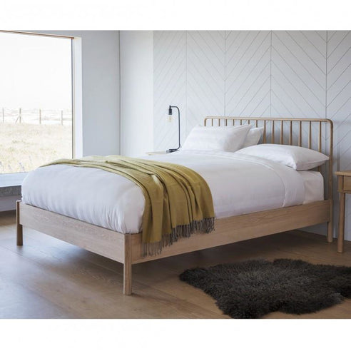 Wycombe Oak Superking Spindle Bed Frame (6')