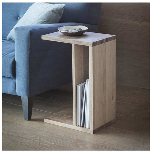 Kielder Nordic-Style Oak Supper Side Table (40 x 27.5 x 60cm)