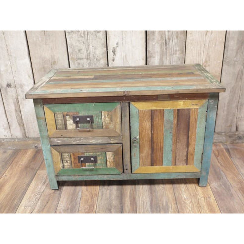 Loft style wooden low cabinet - Beach House