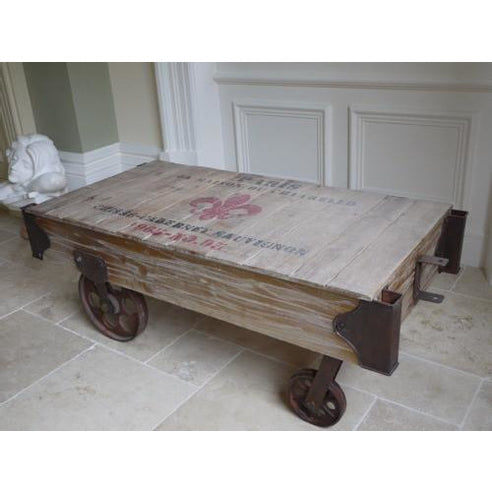 Loft style industrial railway coffee table