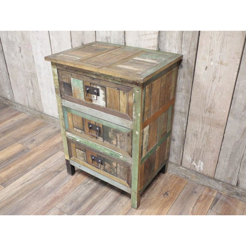 Loft style wooden chest of drawers - Beach House