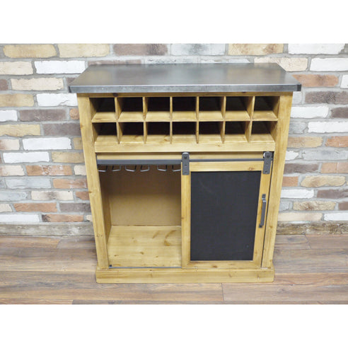 Dalston Industrial Warehouse Metal Drinks Small Sideboard (86 x 41 x 96cm)