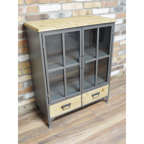Dalston Industrial Warehouse Metal Low Bookcase (80 x 40 x 99cm)