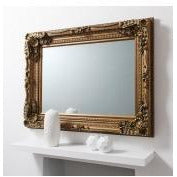 Gold baroque large mirror