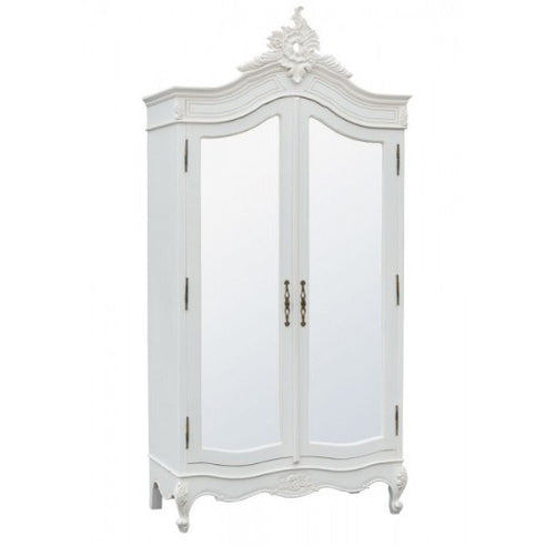 Juliette mirrored french armoire