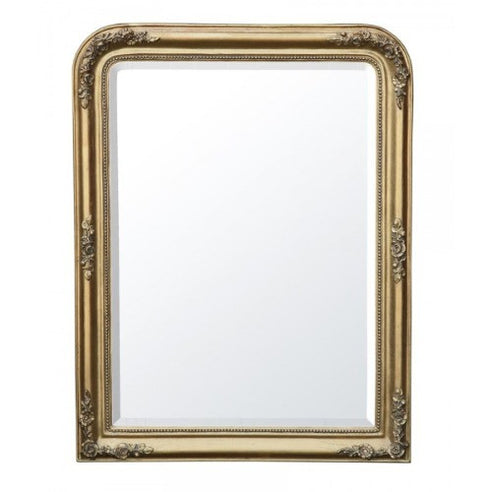 Gold french classic overmantle mirror