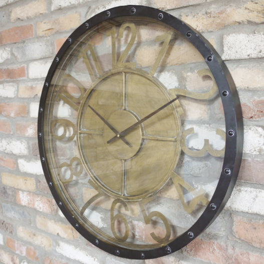 Hoxton Industrial Feature Large Metal Clock (70 x 6 x 70cm)