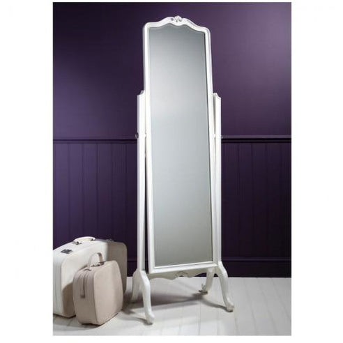 Chic Chalk White French Cheval Mirror