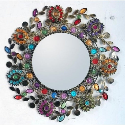 Gypsy Rose be-jewelled gold shabby chic mirror