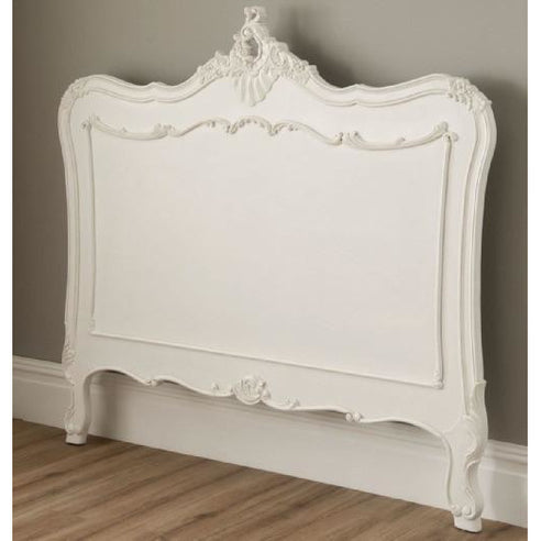 Vintage kingsize french antique white headboard