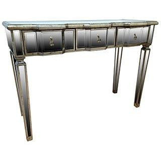 Venetian glass antique silver gilded console table