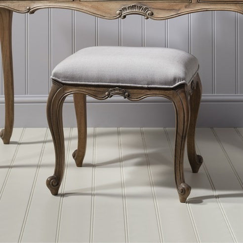 Chic Chalk Weathered French Dressing Table Stool