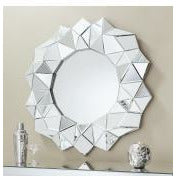 Venetian glass round mirror - Aura