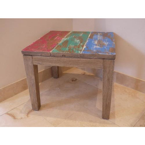 Loft style multi colour side table - Brighton