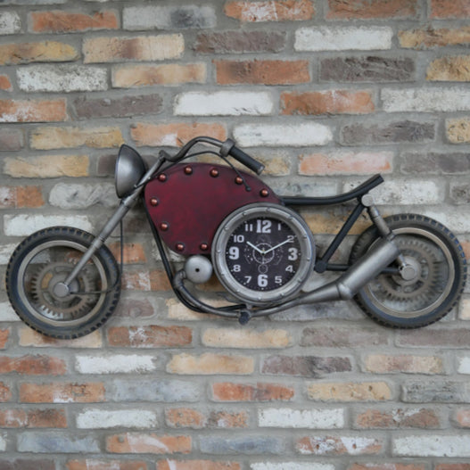 Retro Industrial Motorbike Large Feature Wall Clock ( 120 X 11 X 50CM )