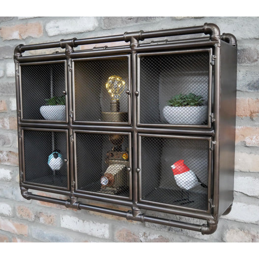 Hoxton Metal Industrial Triple Pipe Wall Cupboard (70 x 18 x 53 )