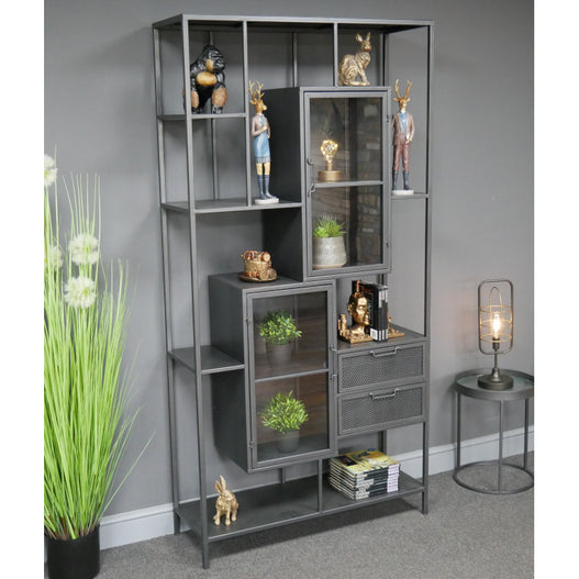 Hoxton Metal Industrial Large Open Display Unit (94 x 35 x 190)