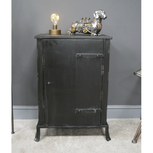 Hoxton Metal and Wood Bedside Table (50 x 33 x 72cm)