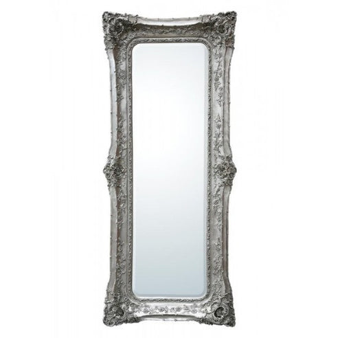 Silver extra large french swept floor mirror