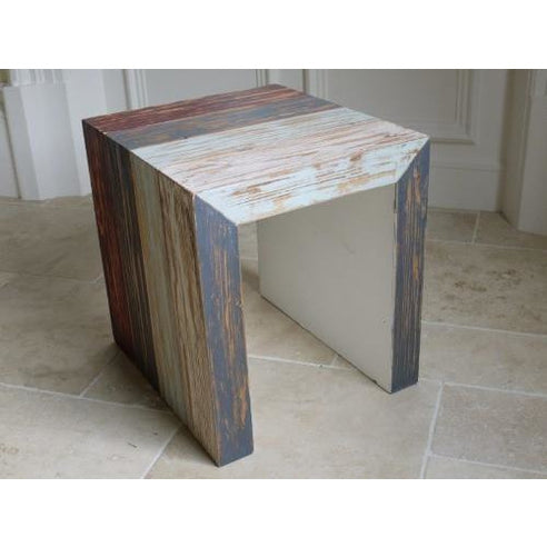 Loft style wooden side table - Beach House