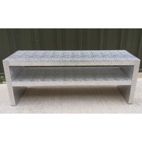 Silver embossed metal coffee table