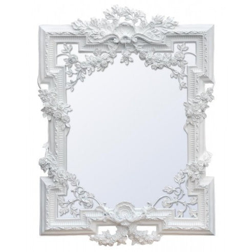 Large french rococo white shabby chic mirror
