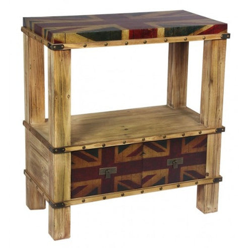 Union jack vintage side table