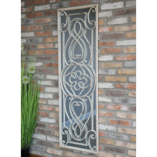 Beach House Distressed Metal Art Nouveau Mirror