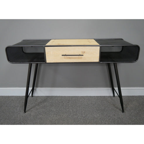 Retro Industrial 50's Style Metal and Wood Laptop Desk