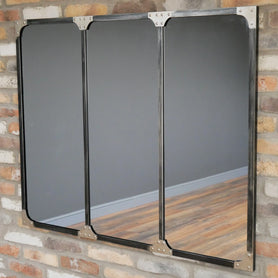 Brixton Metal Triple Wall Mirror (120 x 3 x 95cm)
