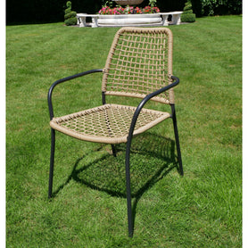 Hoxton Rattan Industrial Retro Garden Chair set of 4