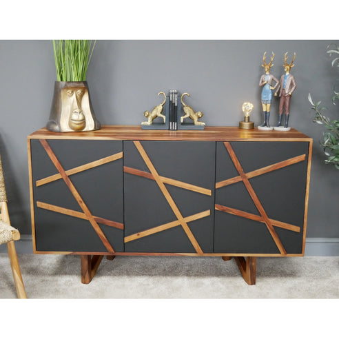 Elvis 50's Retro Wood Sideboard (140 x 41 x 81cm)