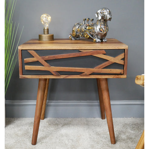 Elvis 50's Retro Wood Side Table (50 x 41 x 50cm)