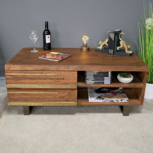 Sinatra 50's Retro Wood Low Side Unit (110 x 65 x 45cm)
