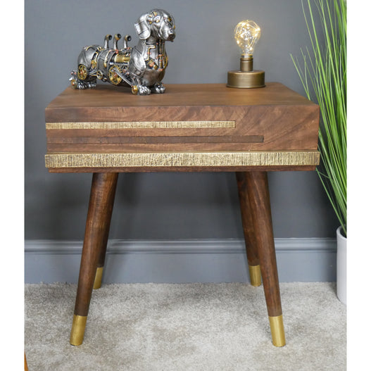 Sinatra 50's Retro Wood Side Table (50 x 43 x 51cm)
